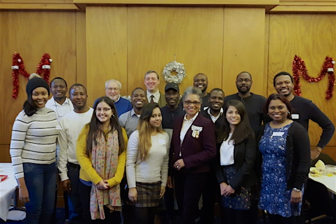 New Year's reception with Commonwealth scholars