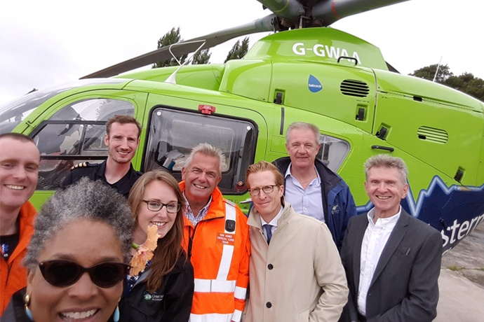 Patron visits the Great Western Air Ambulance Charity