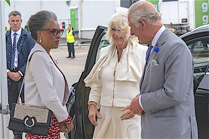TRH received by Mrs Peaches Golding OBE, Lord-Lieutenant for Bristol