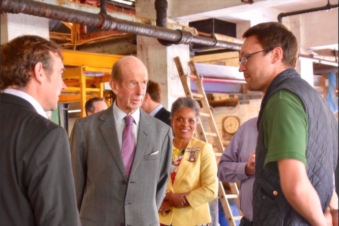 HRH meets skilled craftspeople involved in the centuries old tanning process at Thomas Ware Tannery
