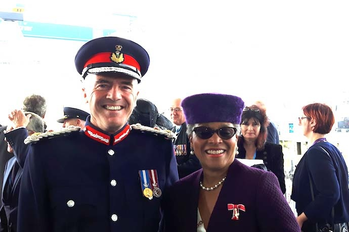 The Lord-Lieutenant of Fife together with the Lord-Lieutenant of Bristol.