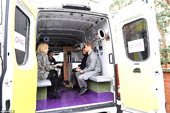 Inside the van at One25 (Photo credit Daily Mail)
